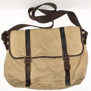 Fossil Canvas Messenger/Laptop Bag